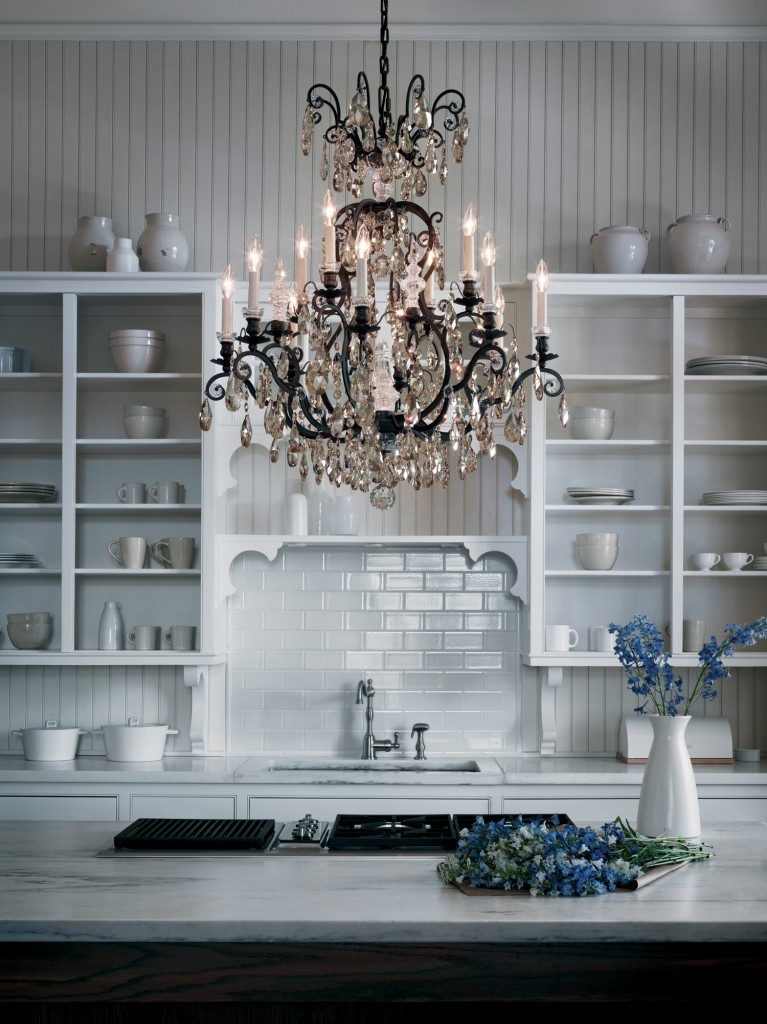 Make It Sparkle With Crystal Lighting Farreys Lighting Bath - Crystal chandelier in kitchen